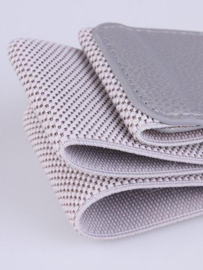 Bowknot Decorative Elastic Wide Belt - GRAY  Mobile