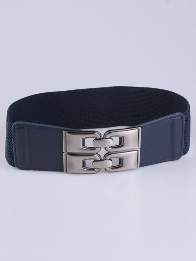 PU Alloy Elastic Wide Belt - DEEP BLUE  Mobile