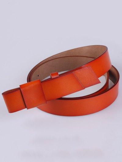 Adjustable Faux Leather Belt - DARKSALMON  Mobile