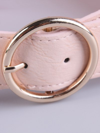 Bowknot Round Buckle Elastic Belt - LIGHT PINK  Mobile