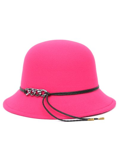 PU Rope Dome Hat - ROSE MADDER  Mobile