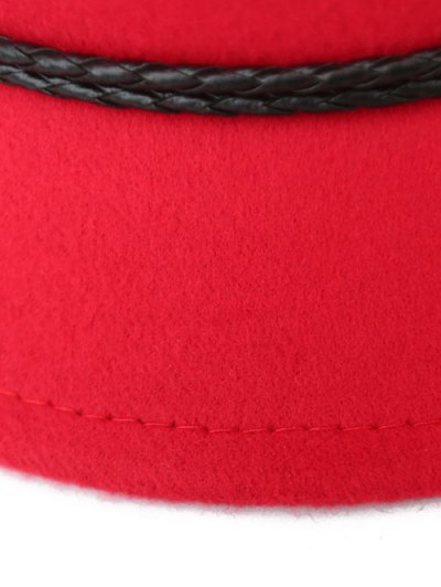 PU Rope Arrow Dome Hat - RED  Mobile