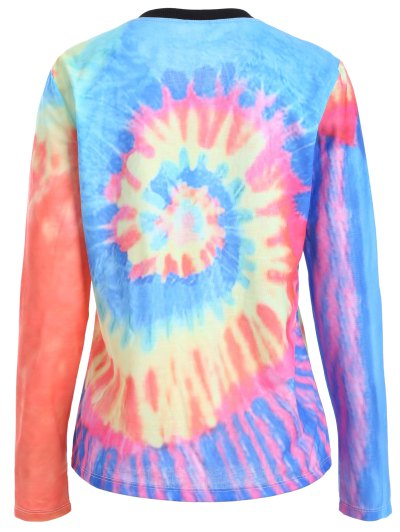 Tie-Dyed Funny T-Shirt - MULTICOLOR L Mobile