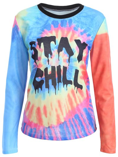 Tie-Dyed Funny T-Shirt - MULTICOLOR S Mobile