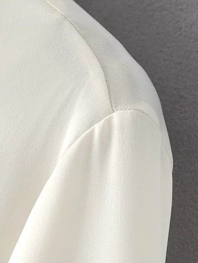 Slimming Embroidered Shirt - OFF-WHITE M Mobile