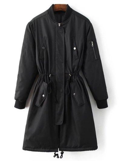 Skirted Utility Coat - BLACK L Mobile