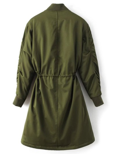Skirted Utility Coat - ARMY GREEN M Mobile