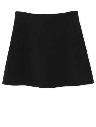 Ethnic Floral A-Line Skirt - BLACK S Mobile