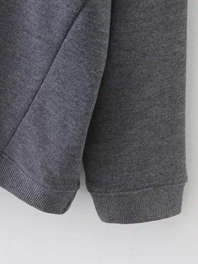 Striped Sports Sweatshirt - GRAY M Mobile