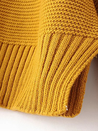 Oversized Turtle Neck Sweater - GINGER ONE SIZE Mobile