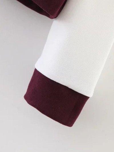 Sports Figure Print Sweatshirt - WINE RED L Mobile