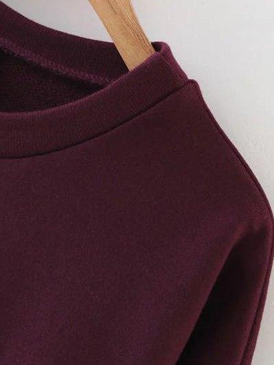 Sports Figure Print Sweatshirt - WINE RED S Mobile