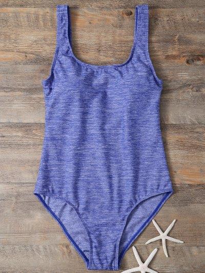 Backless Straps Padded Swimwear - BLUE XL Mobile