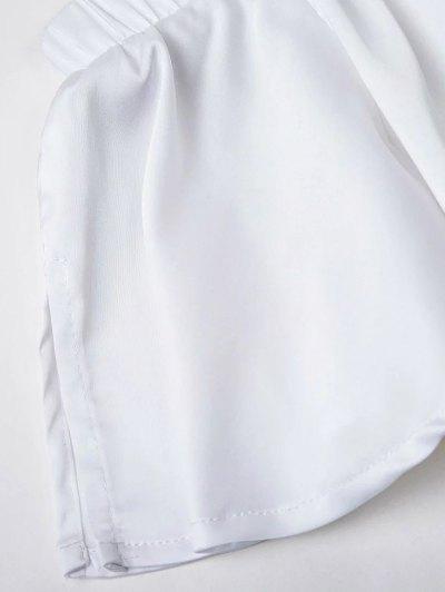 Off The Shoulder Floral Mini Dress - WHITE M Mobile