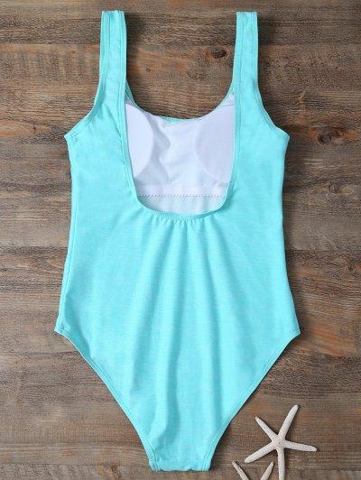 Backless Straps Padded Swimwear - LAKE GREEN XL Mobile