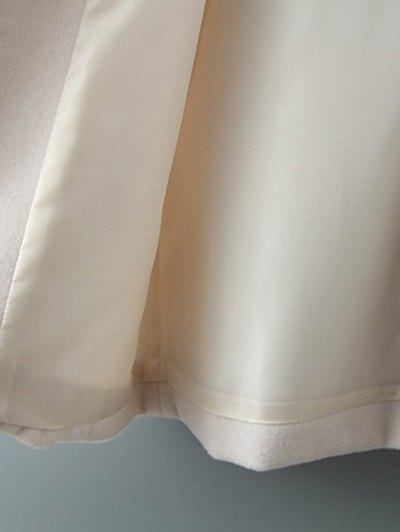 Fur Hooded Woolen Coat - OFF-WHITE L Mobile