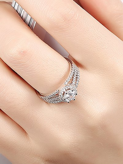 S925 Diamond Layered Ring - SILVER 8 Mobile