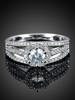 S925 Diamond Layered Ring - Silver