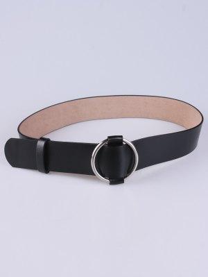 PU Round Buckle Adjustable Belt