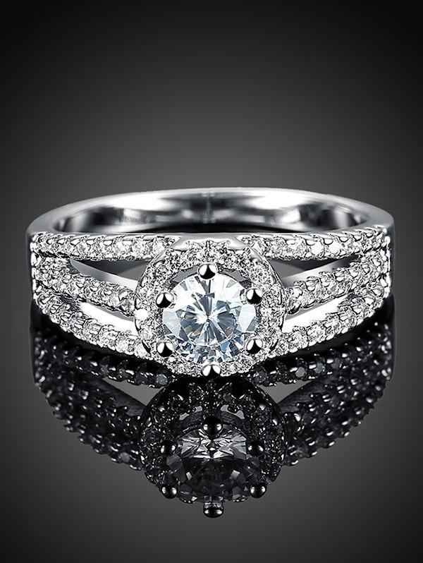 Layered S925 Diamond Ring