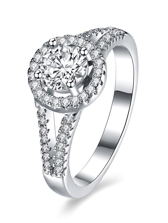 S925 Diamond Circle Ring