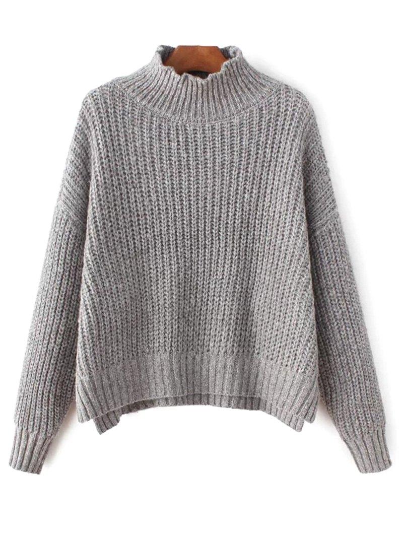 Mock Neck Chunky Sweater