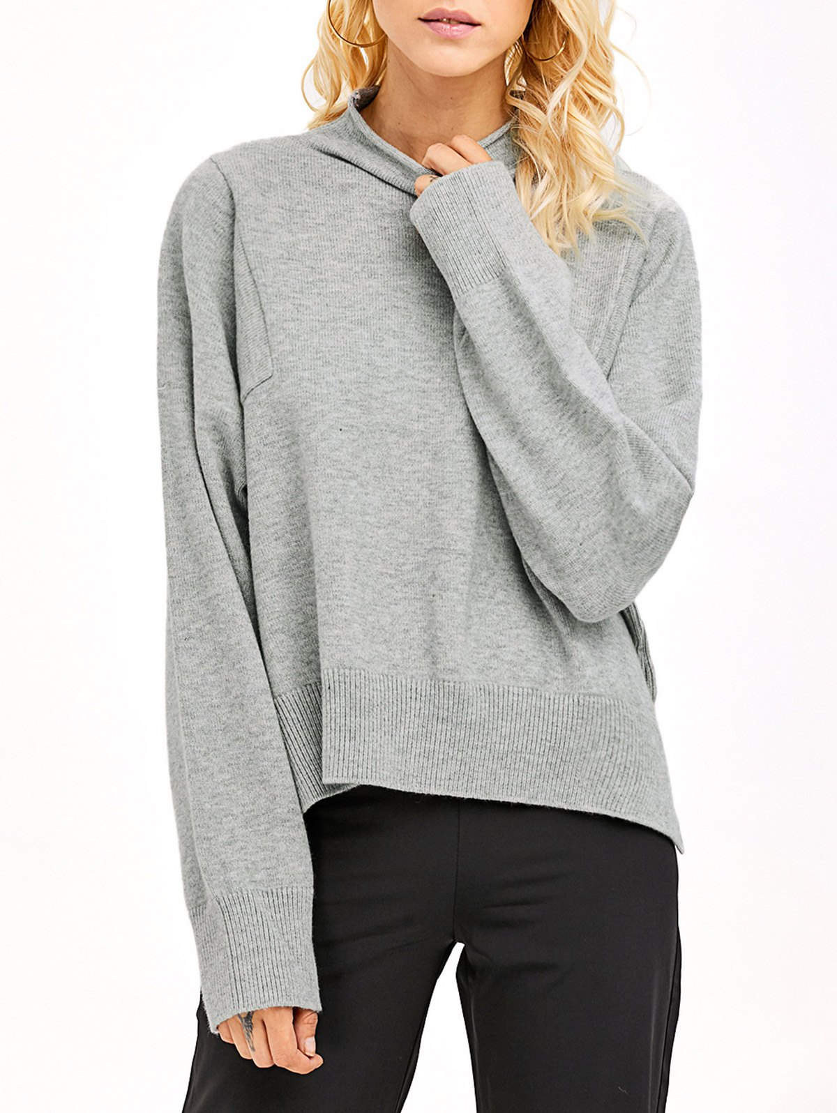 High Neck High Low Knitwear
