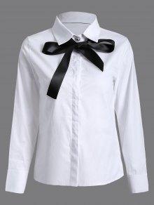 Bowknot Long Sleeve Shirt