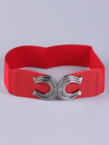 Buy X Shape Buckle Elastic Belt RED