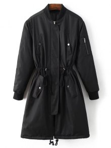 Skirted Utility Coat - Black S