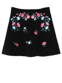 Ethnic Floral A-Line Skirt