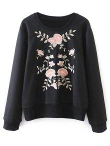 Loose Emroidered Sweatshirt