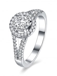 S925 Diamond Round Ring