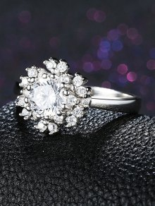 Snowflake S925 Diamond Ring - SILVER 8