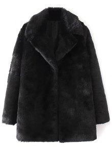 Fitting Faux Fur Coat - Black L