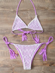 Halter String Tassels Bikini Set