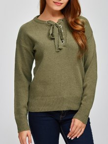 Leisure Lace-Up Sweater