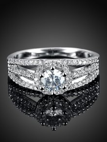 S925 Diamond Layered Ring