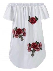 Off The Shoulder Floral Mini Dress