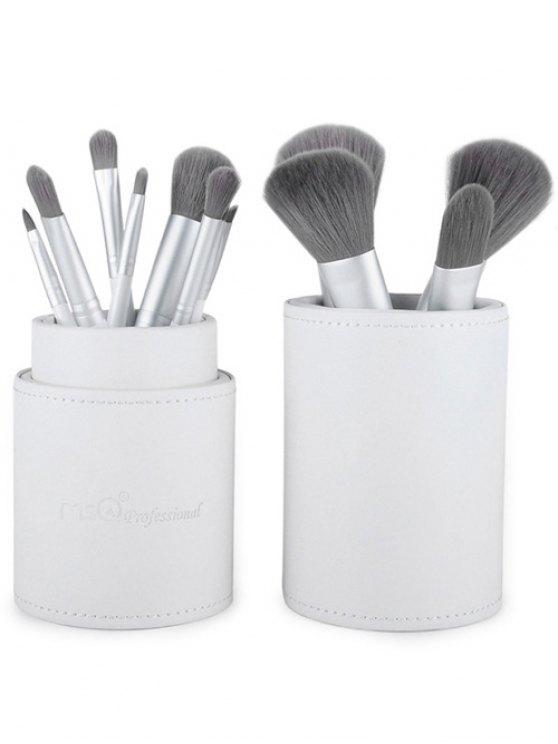 12 Pcs Fiber Makeup Brushes Kit - WHITE  Mobile