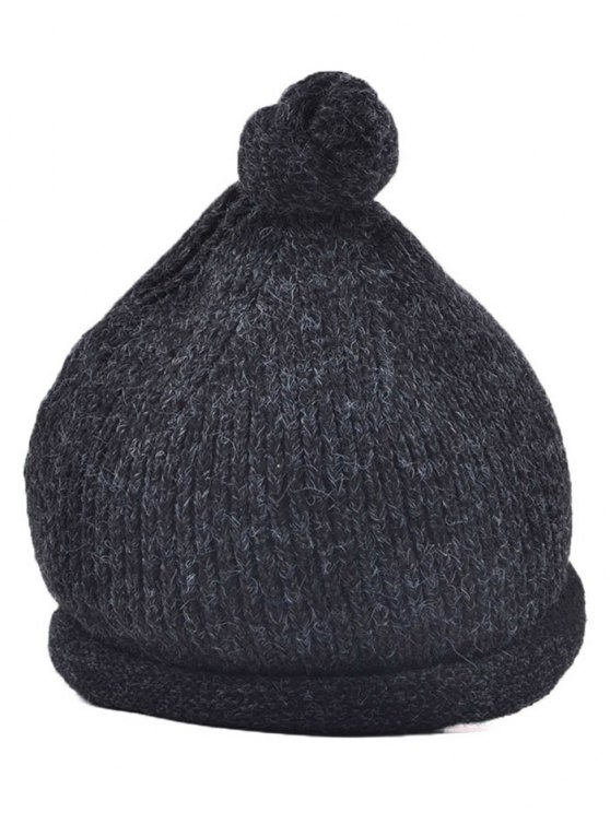 Hello Embellished Chunky Knitted Hat -   Mobile