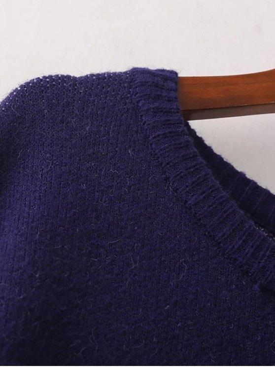 Stars Jacquard Sweater Dress - CADETBLUE ONE SIZE Mobile