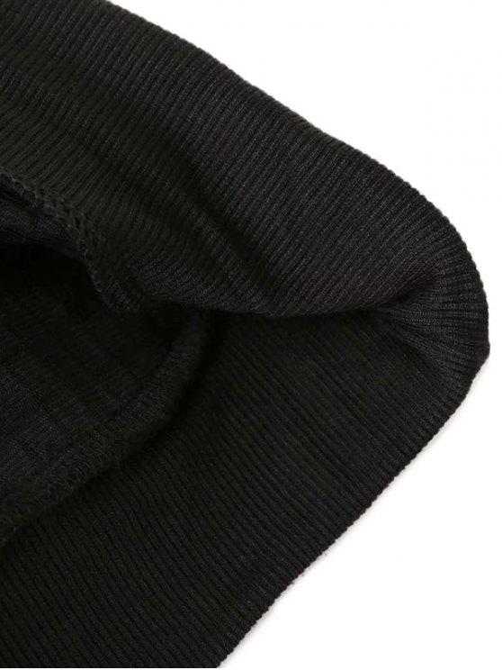 Sequined Sleeve Sweatshirt - BLACK ONE SIZE Mobile