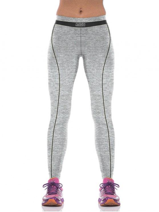unique Yoga Color Block Sports Pants - BLACK M