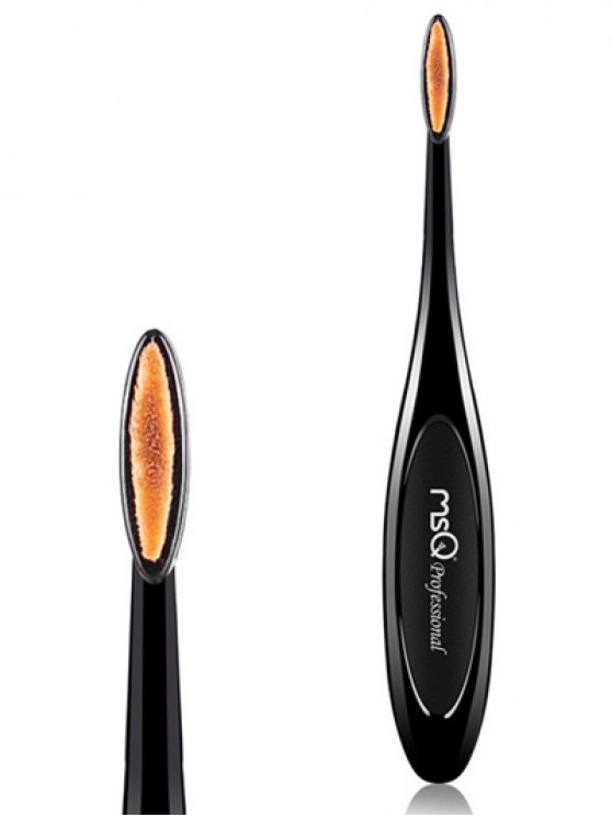 Toothbrush Shape Lip Brush - BLACK  Mobile