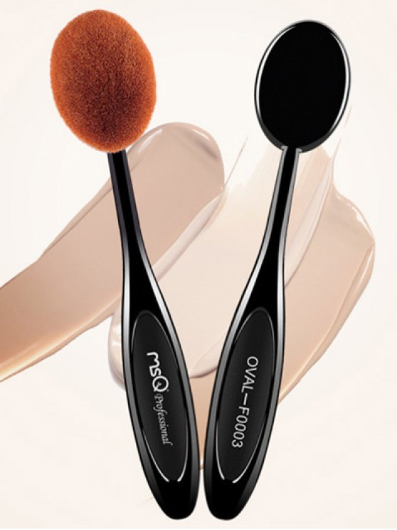 Toothbrush Shape Liquid Foundation Brush - BLACK  Mobile