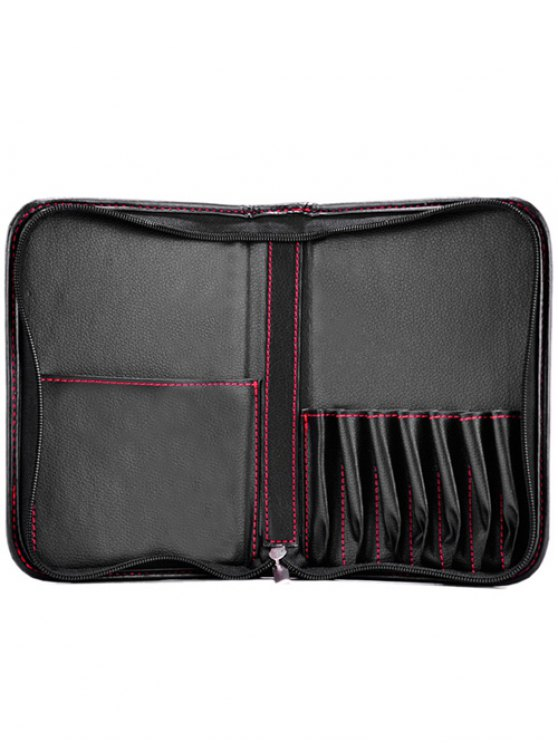 Faux Leather Makeup Storage Bag Cosmetic Bag -   Mobile