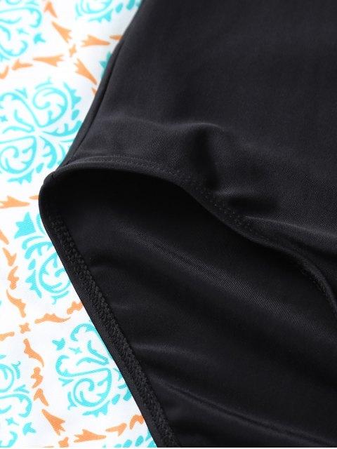 sale Cut Out One-Piece Swimwear - BLACK L Mobile