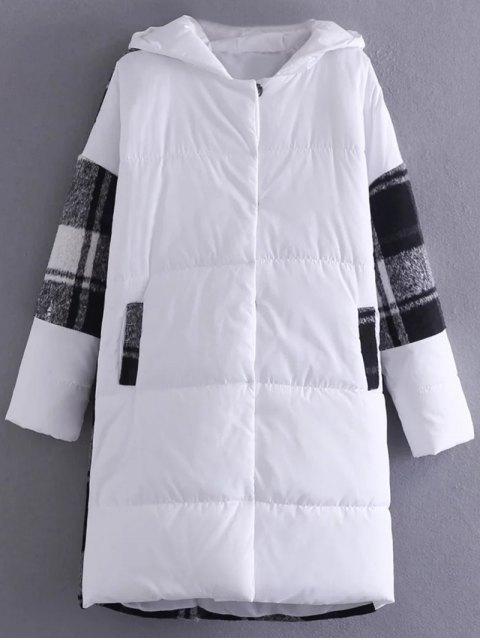 buy Hooded Padded Winter Coat - WHITE ONE SIZE Mobile