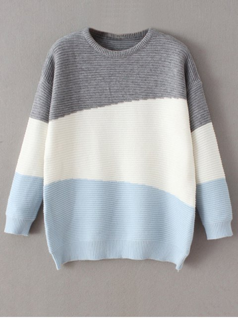 ladies Oversized Comfy Sweater - BLUE ONE SIZE Mobile
